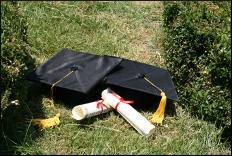 college graduation diploma